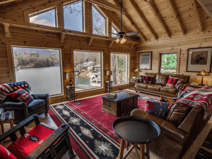 Living Room with a Lake View