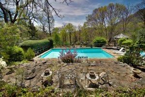 Pool Area in Lake Lure Vacation Rental
