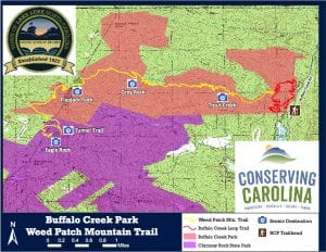 Map Buffalo Creek Park Weed Patch Mountail Trail